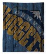 Denver Nuggets Wood Fence Fleece Blanket