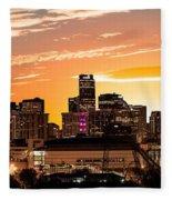 Denver Sunrise Iv Fleece Blanket