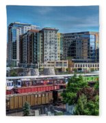 Denver Train Station Fleece Blanket