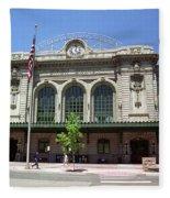 Denver - Union Station Film Fleece Blanket