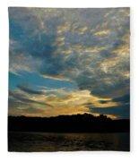 Departing Clouds Fleece Blanket