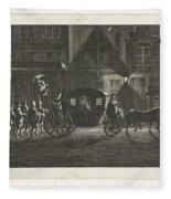 Departure Of Alva From Amsterdam, 1573, Barent De Bakker Attributed To, After Hermanus Petrus Scho Fleece Blanket