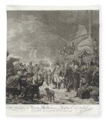 Departure Of Prince William V, 1795, Joannes Bemme, After Dirk Langendijk, After Christoffel Meijer, Fleece Blanket
