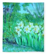 Dependable Daffodils Fleece Blanket