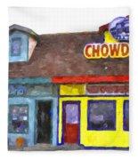 Depoe Bay Oregon - Chowder Bowl Fleece Blanket