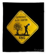 Depressed Buck Hunter Fleece Blanket