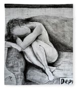 Depression Fleece Blanket