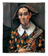 Derain: Harlequin, 1919 Fleece Blanket