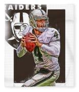 Derek Carr Oakland Raiders Oil Art Fleece Blanket