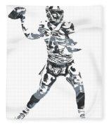Derek Carr Oakland Raiders Pixel Art 11 Fleece Blanket