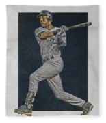Derek Jeter New York Yankees Art 2 Fleece Blanket