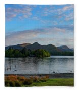 Derwentwater Spring Sunset Fleece Blanket