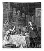 Descartes Teaching Queen Christina, 1649 Fleece Blanket