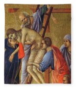 Descent From The Cross Fragment 1311 Fleece Blanket