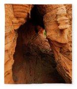 Desert Cavern Fleece Blanket