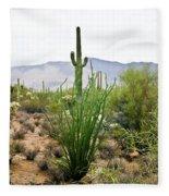 Desert Chaparral Fleece Blanket