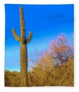 Desert Duo In Bloom Fleece Blanket
