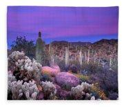 Desert Garden Fleece Blanket