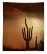 Desert Landscape Southwest Fleece Blanket