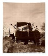 Desert Rat Flatbed Fleece Blanket