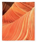 Desert Sandstone Waves Fleece Blanket