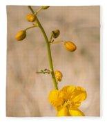 Desert Senna In Spring Fleece Blanket