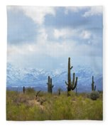 Desert Snow Fleece Blanket