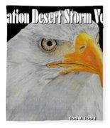 Desert Storm Eagle Fleece Blanket