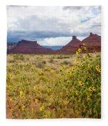 Desert Sunflowers Fleece Blanket