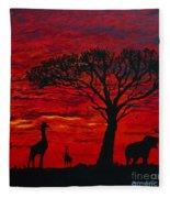Desert Sunset 3 Fleece Blanket