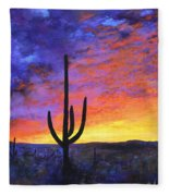 Desert Sunset 4 Fleece Blanket