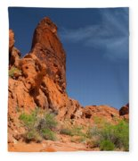 Desert Tower Valley Of Fire Fleece Blanket