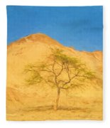Desert Tree Fleece Blanket