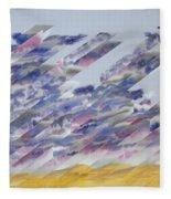 Desert Under Storm Fleece Blanket