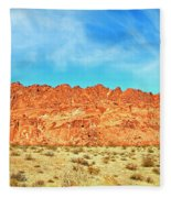 Desert Valley Of Fire Fleece Blanket
