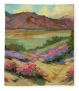 Desert Verbena At Borrego Springs Fleece Blanket