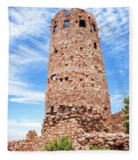 Desert View Tower, Grand Canyon Fleece Blanket