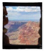 Desert Watchtower View Grand Canyon  Fleece Blanket
