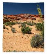 Desert Yucca In Bloom Valley Of Fire Fleece Blanket