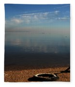 Deserted Beach Fleece Blanket