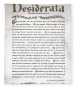 Desiderata 3 Fleece Blanket
