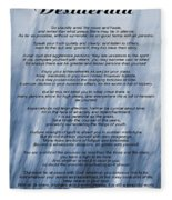 Desiderata - Blue Fleece Blanket