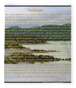 Desiderata Rugged Coastline Fleece Blanket