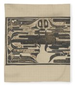 Design For A Charter On The Occasion Of Twelve-and-a-half-year Service, Carel Adolph Lion Cachet, 18 Fleece Blanket