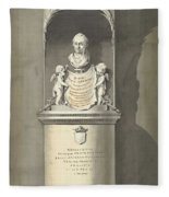 Design For A Monument To C. Brunings A Bust In A Niche, Bartholomeus Ziesenis, 1806 Fleece Blanket