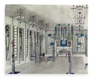Design For A Music Room With Panels By Margaret Macdonald Mackintosh Fleece Blanket