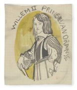 Design For A Painting In The Mailboot William II Prince Of Orange, Carel Adolph Lion Cachet, 1874 -  Fleece Blanket