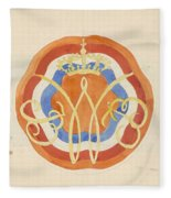 Design For A Plate With A Crowned W, Carel Adolph Lion Cachet, 1874 - 1945 Fleece Blanket