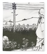 Design For End Paper Of Pierrot Fleece Blanket