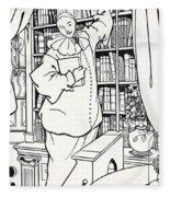 Design For The Cover Of Pierrot Fleece Blanket